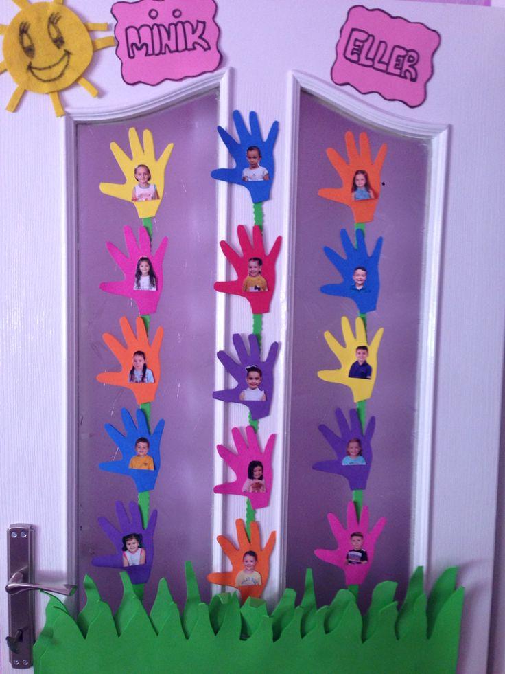 Okul öncesi kapı süsü