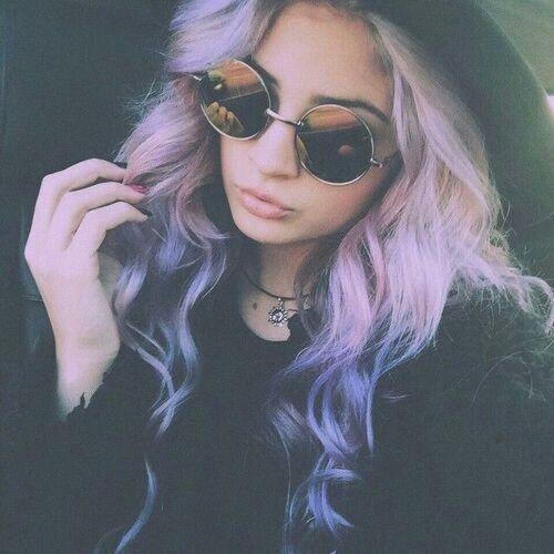 Pastel ombre purple hair