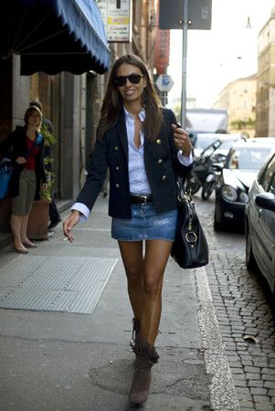 Ropa Elite, última moda: Falda vaquera se lleva