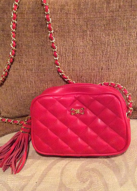 Magnum Red Shoulder Bag 1980's MB021 by LisaLaRueRetroActive, $12.95