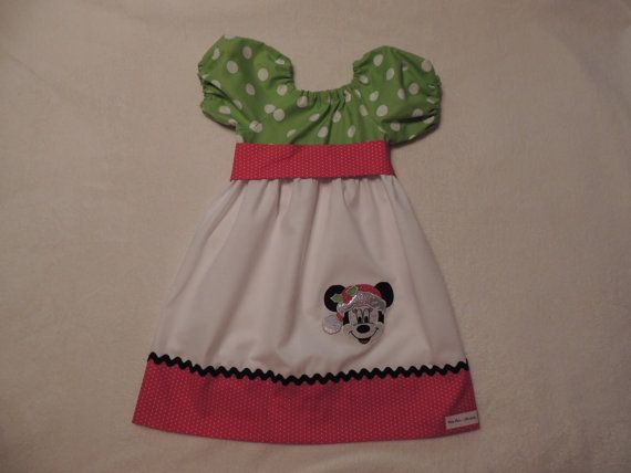 Christmas Minnie Mouse Peasant Minnie Mouse by madebygrannyshands, $33.00