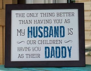 Awesome pictures - Pinterest is Cool: Father's Day gifts for Husband Daddy by abidingwordcreations