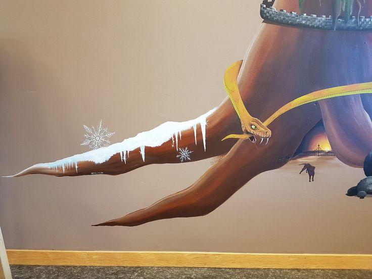 #mural#nivlheim#nidhogg##hel#garm#yggdrasil#norse#mythology