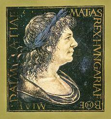 I. Mátyás ábrázolása egy corvina miniatúráján