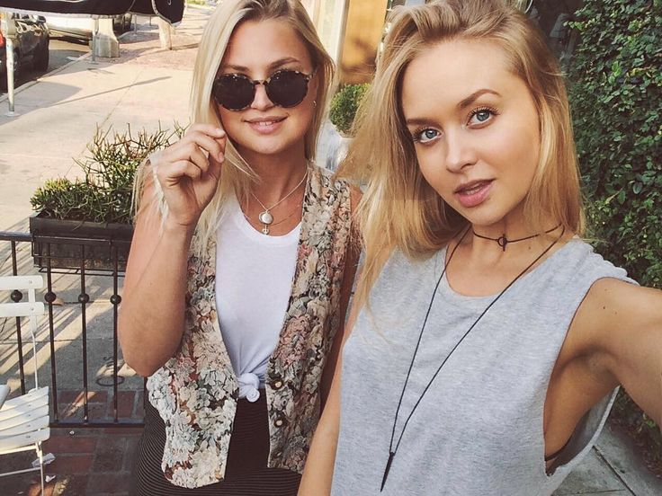 """Get 20% off on the super soft muscle tees (today only). Use discount code """"Hills"""" at Checkout. @amalienywichmann seen wearing the heather grey version next to her sweet and beautiful friend @jjakerman when they went for coffee yesterday  #forrestandbob #ootd #todayssummerdeal by forrestandbob"""