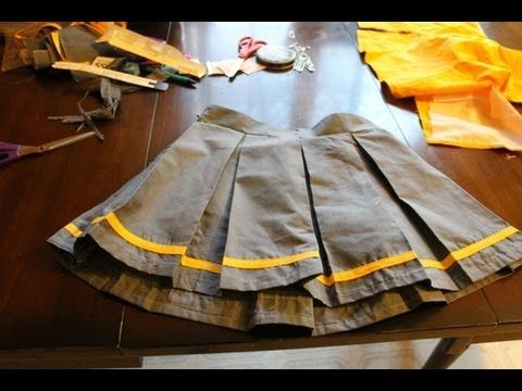 ▶ Pleated Skirt Tutorial- Cosplay, Fashion, etc - YouTube