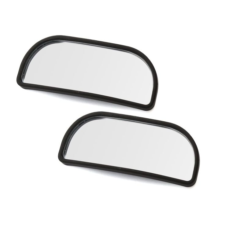 Unique Bargains Universal Black Shell Stick-on Wide Angle Car Blind Spot Rearview Mirror Pair