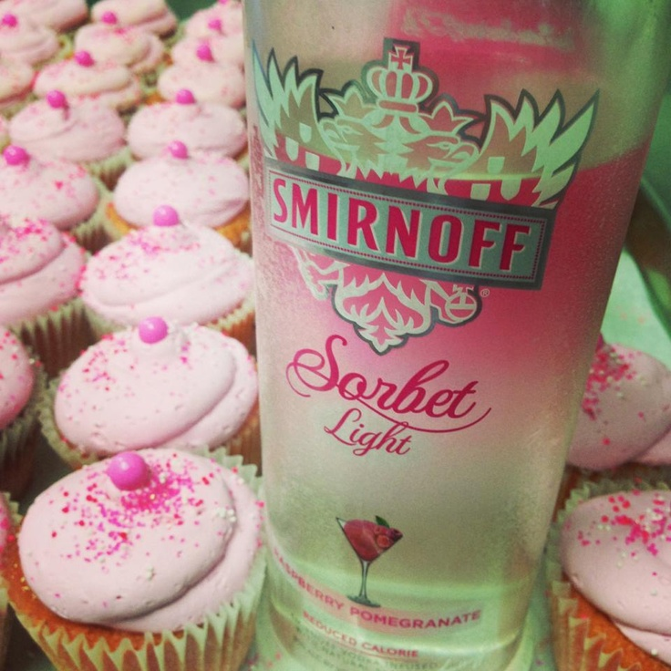 21+ only pomegranate vodka cupcake --That's cool I didn't know they had that