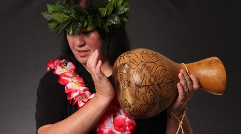 Hawaiian heritage - Lisa Robbins, '14, is both a hula instructor and a Hawaiian quilter.