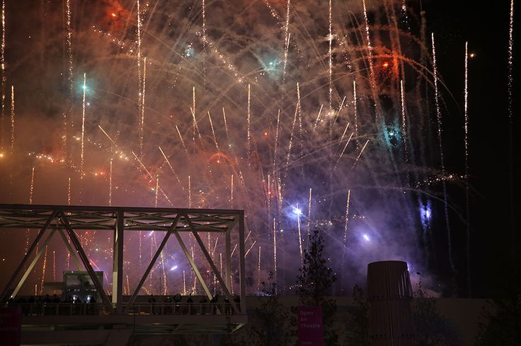 The closing ceremony at Open Air Theatre, Expo Milan 2015 #raiexpo #expo2015 #live #ceremony #milan #italy #fireworks