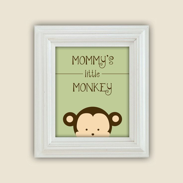Mommys Little Monkey Printable Peekaboo Wall Art Digital JPEG File Nursery Decor. $10.00, via Etsy.