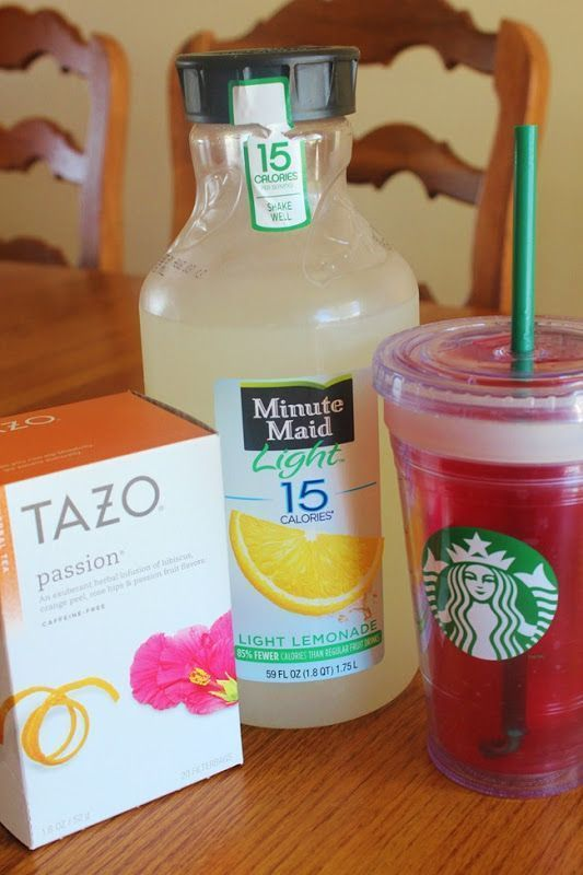 Copycat recipe for Starbucks passion tea lemonade MY FAVORITE may actually make…