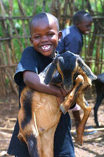 Happiness is his goat  Uganda