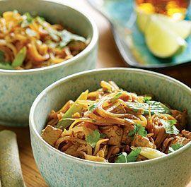 Stir-Fried Noodles with Tofu, Scallions & Peanuts