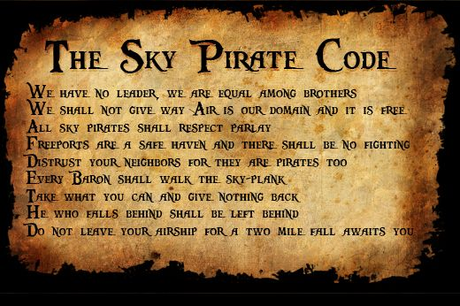 How to be a sky pirate 101 #steampunk