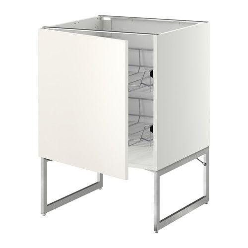 Good METOD Unterschrank mit Drahtk rben IKEA Leicht laufende Drahtk rbe mit Auszugstopp Praktische Aufbewahrung f r T pfe