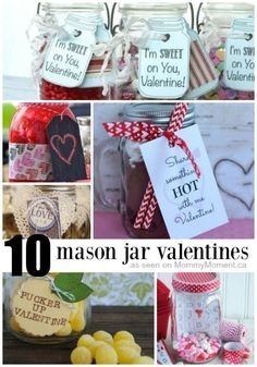 10 Mason Jar gift ideas for valentines day - These gift ideas for Valentines Day are perfect – the fact that they are all made using a mason jar gives them that wow factor!!
