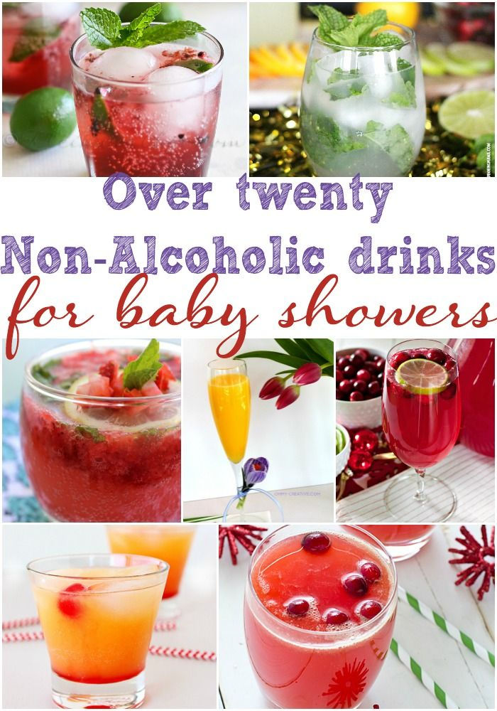 Over Twenty Non Alcoholic Drinks for Baby Showers, Baby Shower Drink Ideas, Drink Recipes, Non Alcoholic Drink Recipes