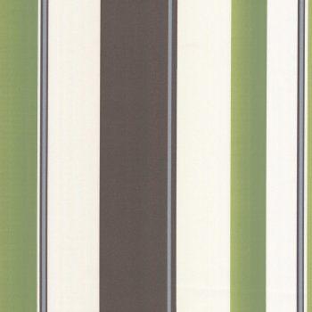 """""""Erismann Poppy Striped Wallpaper Green / Brown / Cream"""""""