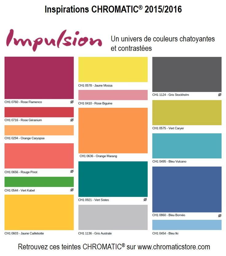 Tendances chromatic 2015 impulsion un univers de for Couleur de facade tendance 2016