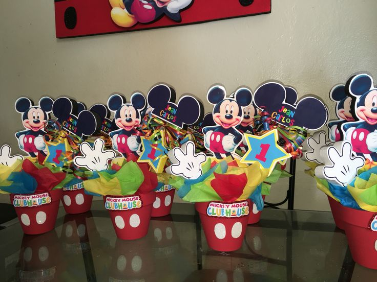 Mickey Mouse Clubhouse centerpieces