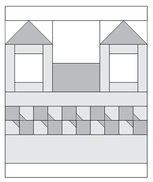Moda Be My Neighbor Free Quilt Block Pattern 09