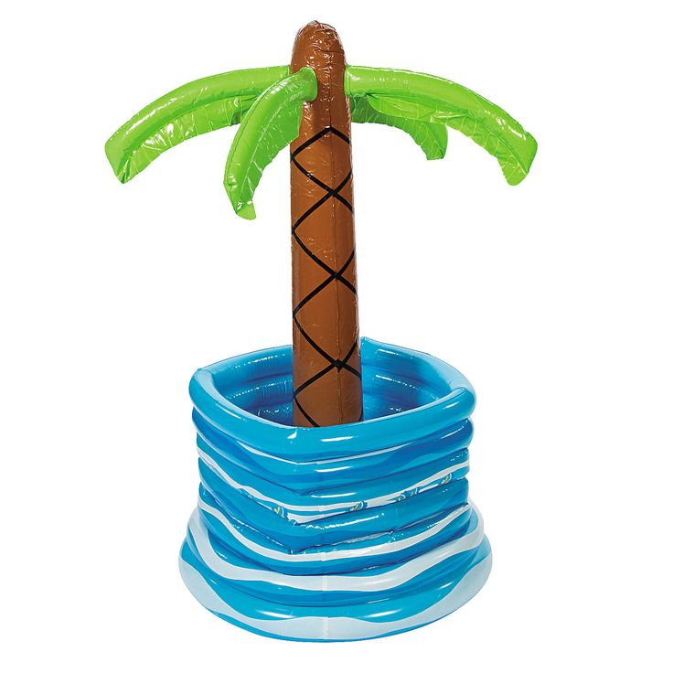 Make your Luau party decorations the coolest with this Inflatable Palm Tree In Pool Cooler. Chill your luau party food and tropical drinks in Hawaiian style!