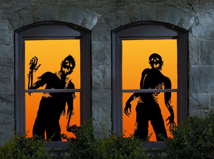 halloween ghoulies window clings - Halloween Window Clings