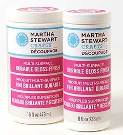 Martha Stewart Crafts ® Decoupage Multi-Surface Finish - Durable Gloss, 16oz | Plaid Enterprises