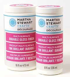 Martha Stewart Crafts ® Decoupage Multi-Surface Finish - Durable Gloss, 16oz | Plaid Enterprises