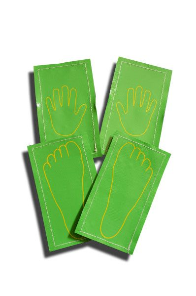 Little ones will enjoy matching up their hands on the printed vinyl. Excellent for visually demonstrating correct hand placement for beginner skills. Available in a set of 4 (2 pairs of hands, 2 pairs of feet) or a set of 6 (3 pairs of hands, 3 pairs of feet).