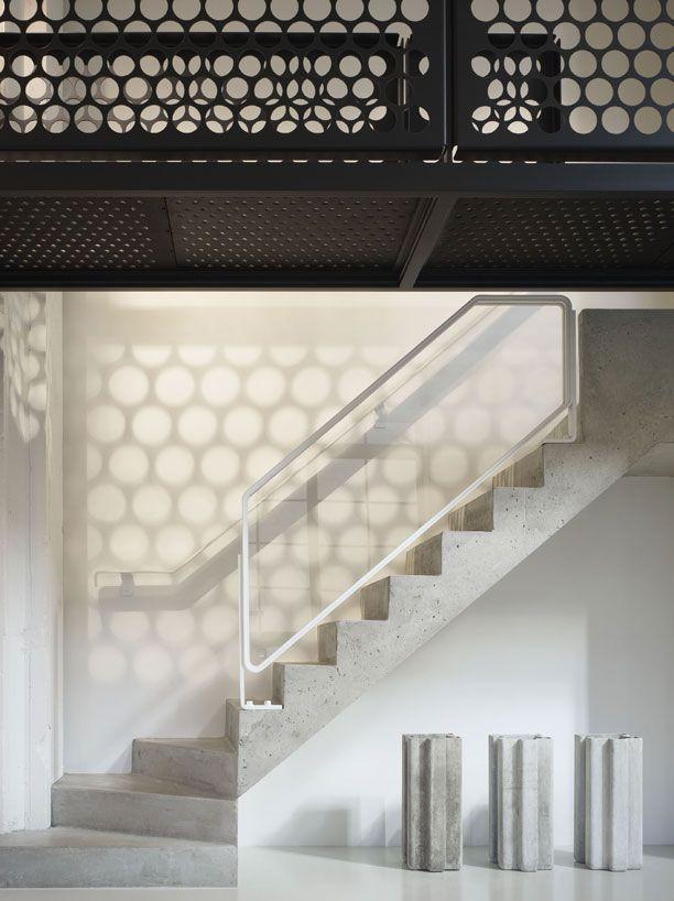 blent metal korkuluk yüzer platformu daire iç tasarım