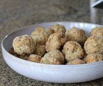 Turkey Meatballs - lean and healthy, served with marinara on the side - so good.