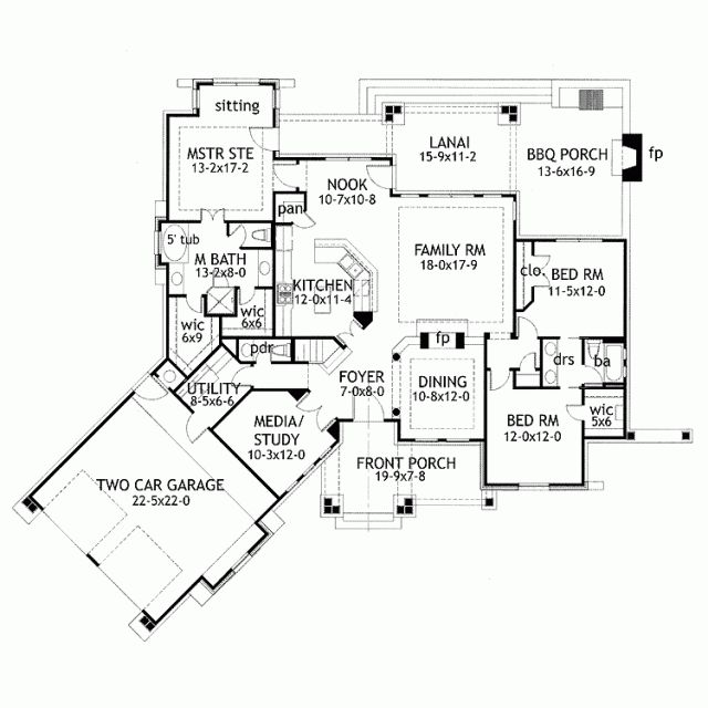 43 best blueprints images on pinterest house blueprints home house plans ranch style with basement blueprint malvernweather Image collections