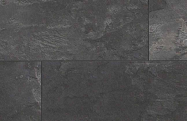 Laminat Fliese Schiefer schwarz inkl. Trittschalldämmung und Sockelleiste