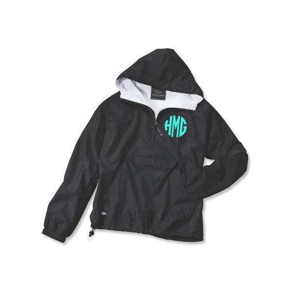 Monogram Wind Breaker Pullover Rain Jacket Pullover Charles River... ($35) ❤ liked on Polyvore featuring tops, hoodies, sweatshirts, jackets, black, women's clothing, pullover shirt, color block shirts, zip sweatshirt and zipper sweatshirt