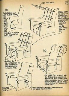 Cardboard Cut Outs Of A 3D Chair And Instructions Will Make It Easier For The