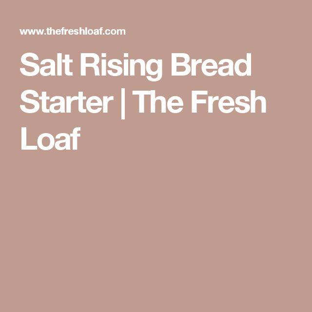 Salt Rising Bread Starter | The Fresh Loaf