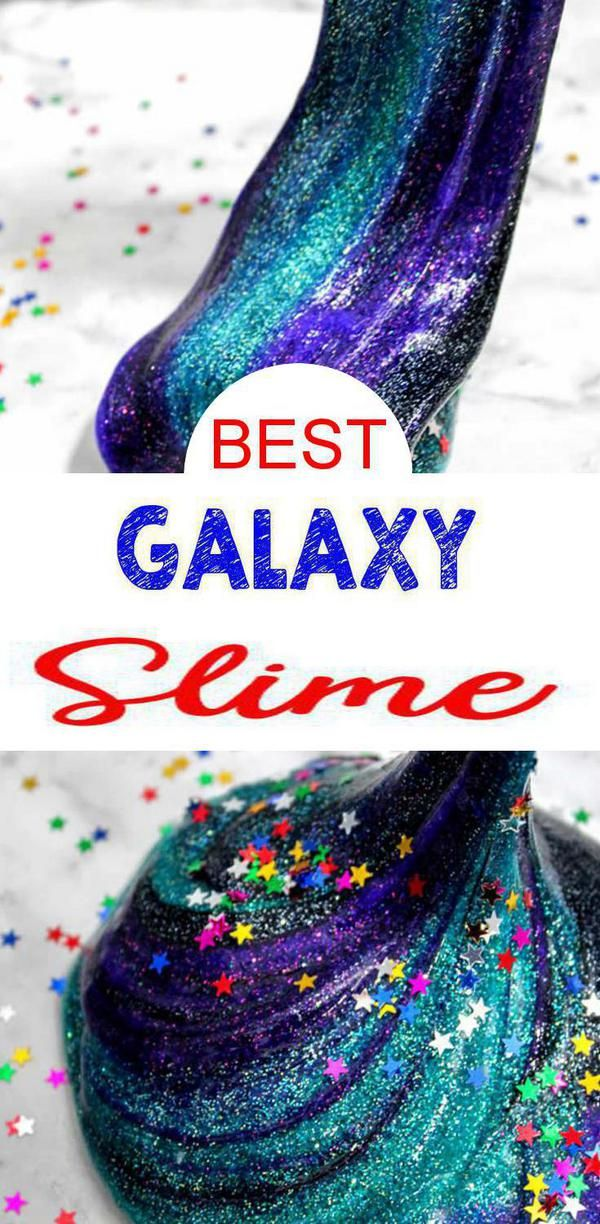 DIY Galaxy Slime – How To Make Homemade Galaxy Slime – Easy & Fun Recipe For Kids – Glitter – Swirls – BEST Slime – Great Party Favors