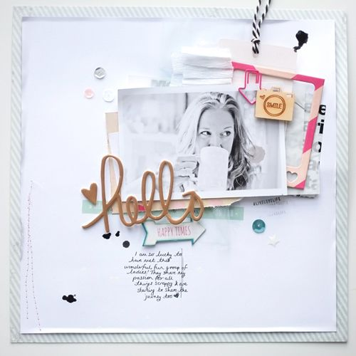 #papercrafting #scrapbook #layout -  faith hope washi: Layout * Hello * video