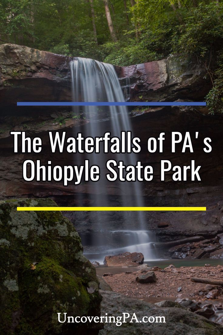 The waterfalls of Ohiopyle State Park in