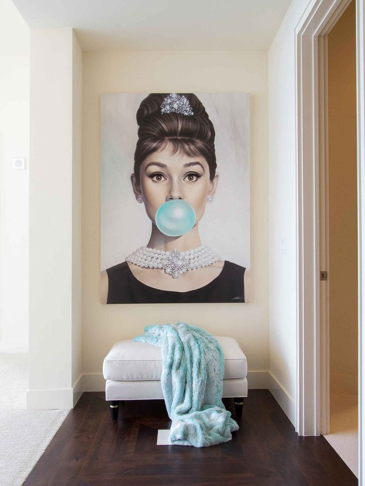 Audrey Hepburn artwork at the end of the hall. #Brilliance