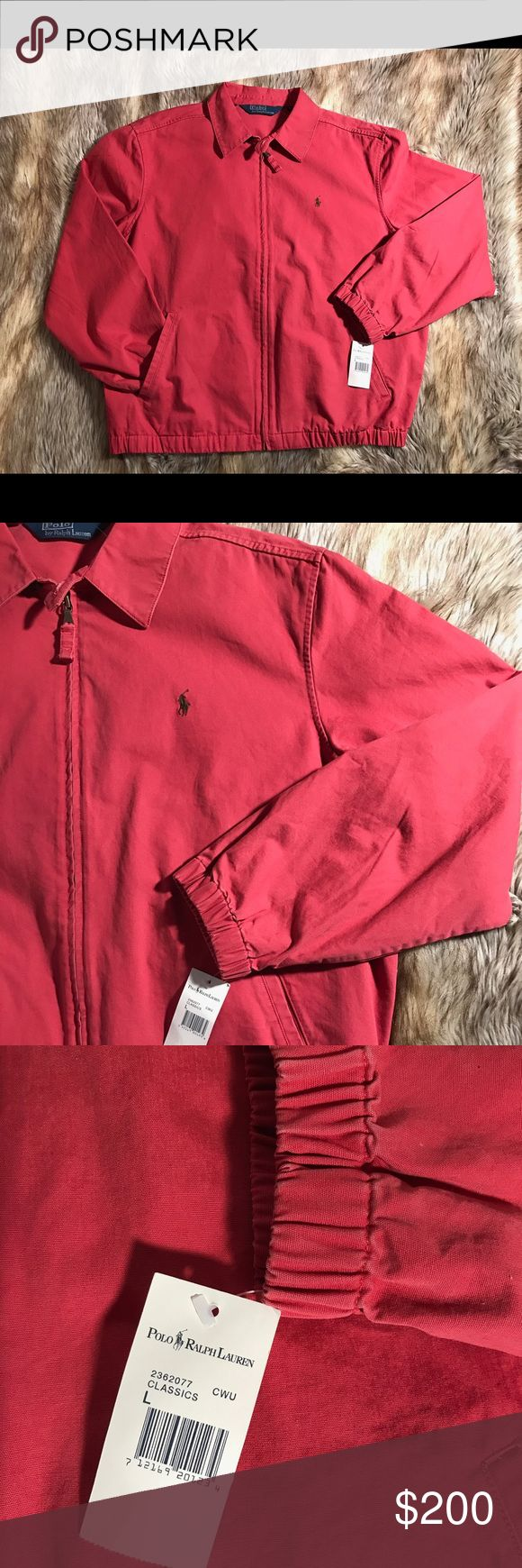 Vintage Ralph Lauren Polo Jacket A vintage Ralph Lauren Polo Men's Jacket brand new with original tags!! Size large in color Salmon pink. Open to reasonable offers :) Polo by Ralph Lauren Jackets & Coats