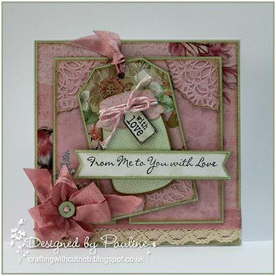 Crafting with Cotnob, Crafter's Companion, LOTV, Sarah Davies Vintage Tea Party Signature Collection, Vintage