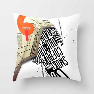 constructive Throw Pillow by BerkKIZILAY - $20.00