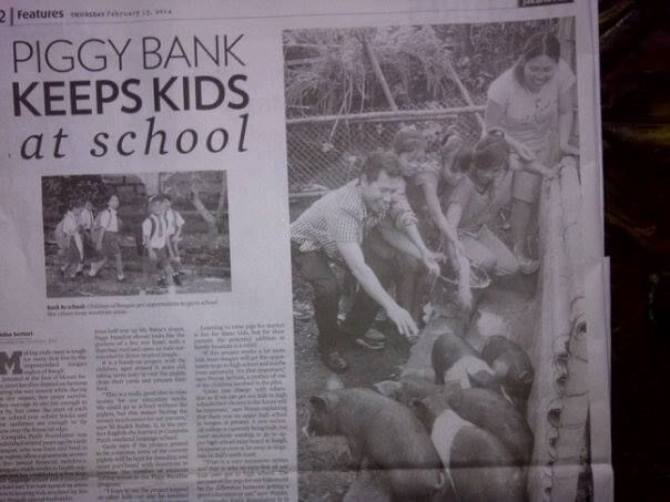 Check out Gede and His Piggy Project up in Songan Village! In the Jakarta Post 2014-02-13