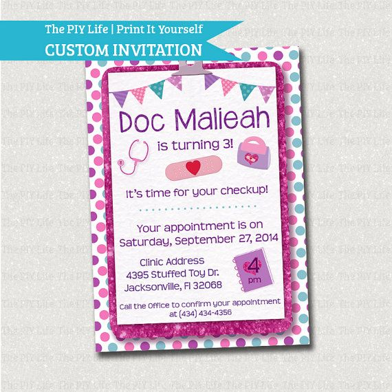 125 best doc mcstuffins birthday party ideas images on pinterest birthday invitation doc mcstuffins birthday invitation printable diy no i58 solutioingenieria Gallery