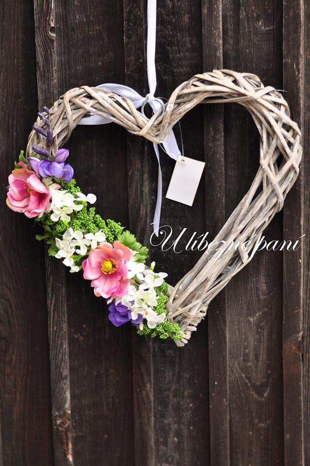 srdce letní s květy