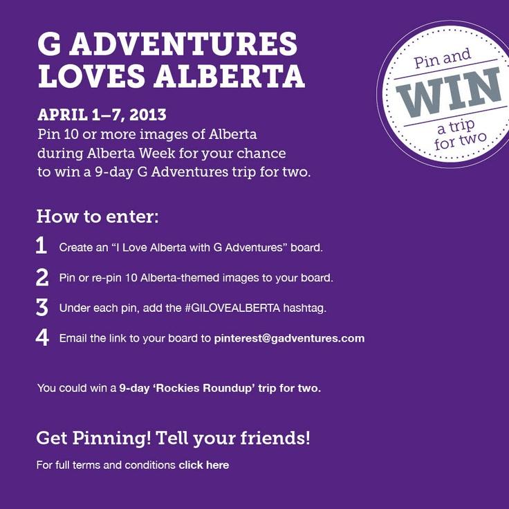 Win a trip to Alberta! #GILOVEALBERTA