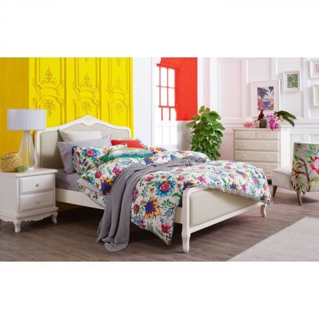 Amore Bed Frame with Fabric | Domayne Online Store